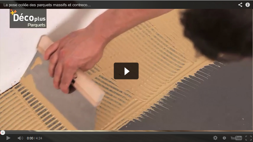 Video glue down installation for Parquet massif pose collee